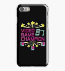 Video Game Champion 1987 : Retro Option iPhone Case/Skin