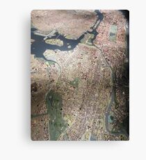 Scale-Model Manhattan, Bronx, New York City Canvas Print