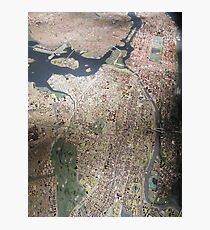 Scale-Model Manhattan, Bronx, New York City Photographic Print