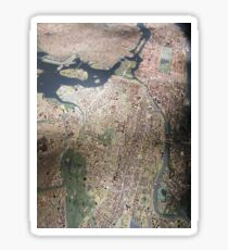 Scale-Model Manhattan, Bronx, New York City Sticker