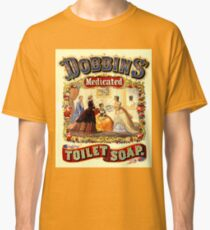 DOBBINS: Vintage Medicated Toilet Soap Print Classic T-Shirt