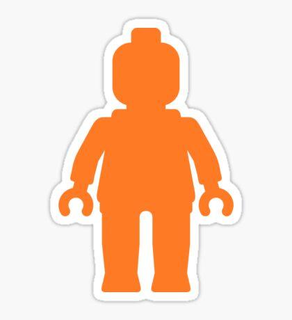 Minifig [Large Orange]  Sticker