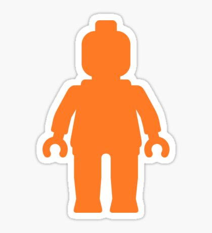Minifig [Large Orange]  Sticker