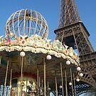 Eiffel Tower Carousel  by WaleskaL