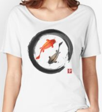 Japanese Koi Vintage Ink Shodo Women's Relaxed Fit T-Shirt