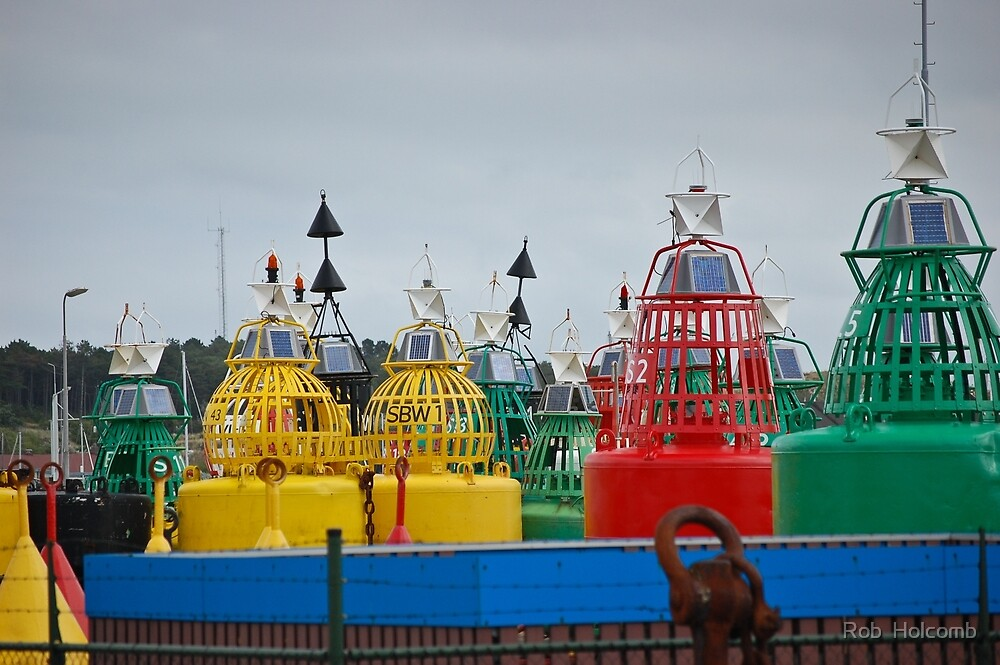 Buoys in Terschelling, Netherlands  by Rob  Holcomb