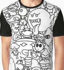 Super Mario Cluster Graphic T-Shirt