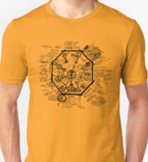LOST Swan Station Blast Door Map (Black) Unisex T-Shirt
