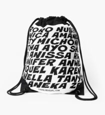 Black SuperSHEroes - Black type Drawstring Bag