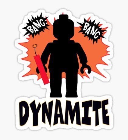 Dynamite Minifigure Sticker