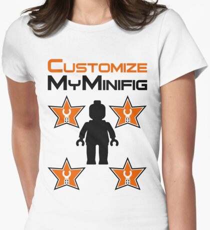 Minifig [Black] with Customize My Minifig Star Logos T-Shirt