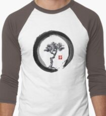 Japanese Pine Tree in Enso Zen Circle - Vintage Japanese Ink T-Shirt