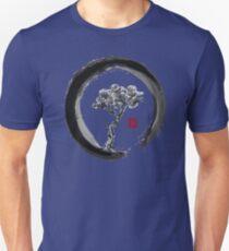 Japanese Pine Tree in Enso Zen Circle - Vintage Japanese Ink T-Shirt