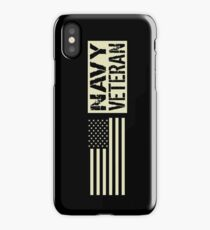 Navy: Veteran (Black Flag) iPhone Case/Skin