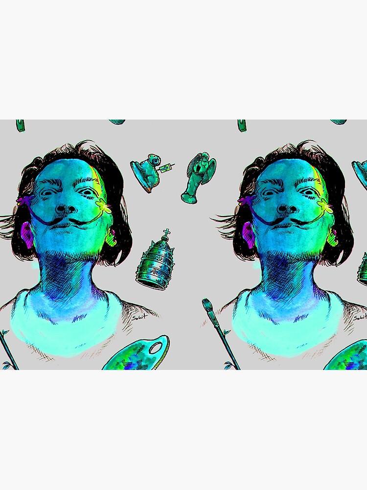 Salvador Dali Surrealismus-Kopf-berühmte Maler-Künstler von tanabe