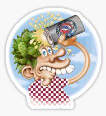 Drunk Head Sticker
