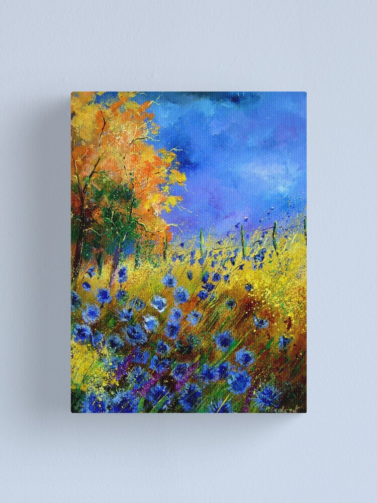 Alternate view of Blue cornflowers and orangetree Canvas Print