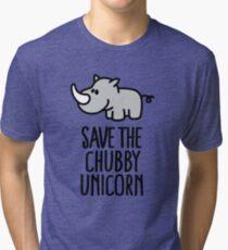 Save the chubby unicorn Tri-blend T-Shirt