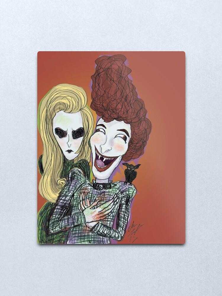 Alternate view of The Laughing Vampire Metal Print