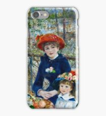 Auguste Renoir - Two Sisters (On The Terrace) 1881 iPhone Case/Skin