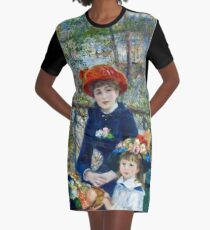 Auguste Renoir - Two Sisters (On The Terrace) 1881 Graphic T-Shirt Dress