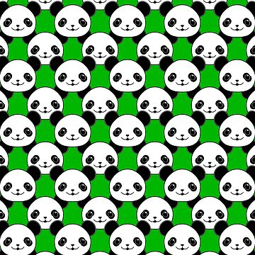 Kawaii Panda Bear Pattern by Braznyc