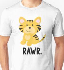 """Cute Little Tiger """"Rawr"""" Jungle Animals Unisex T-Shirt"""