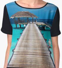 Dockside Retreat - Tropical Horizon Series Chiffon Top