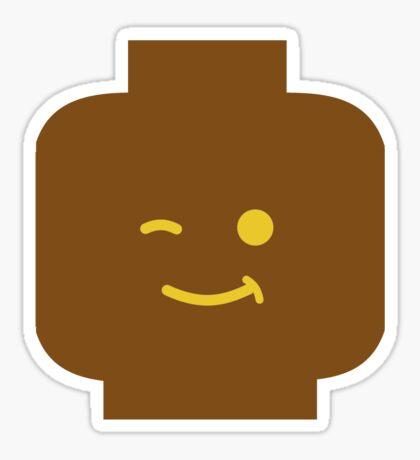 Minifig Winking Head Sticker