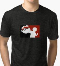 POKEMON INSPIRED DESIGN ASH KETCHUM Tri-blend T-Shirt