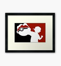 POKEMON INSPIRED DESIGN ASH KETCHUM Framed Print