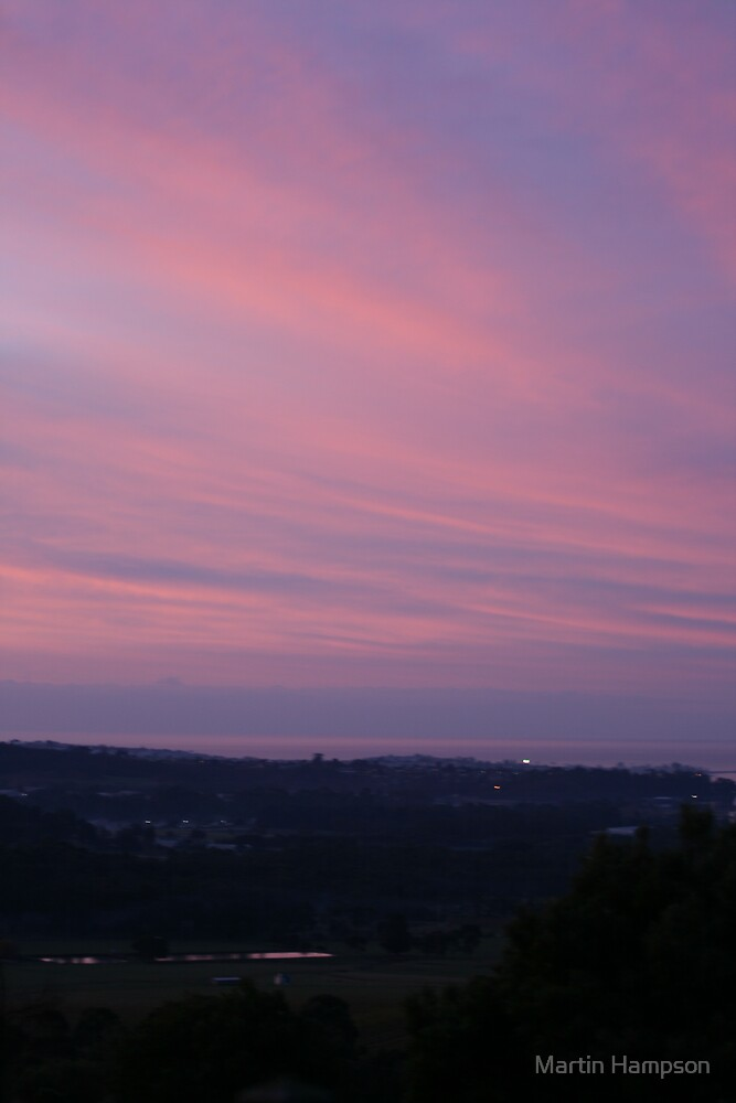 Purple Sunset by Martin Hampson