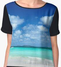 Island Paradise - Tropical Horizon Series Chiffon Top