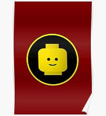 MINIFIG HAPPY FACE Poster