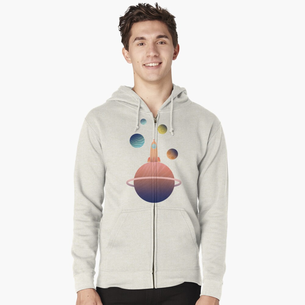 Into Space Zipped Hoodie