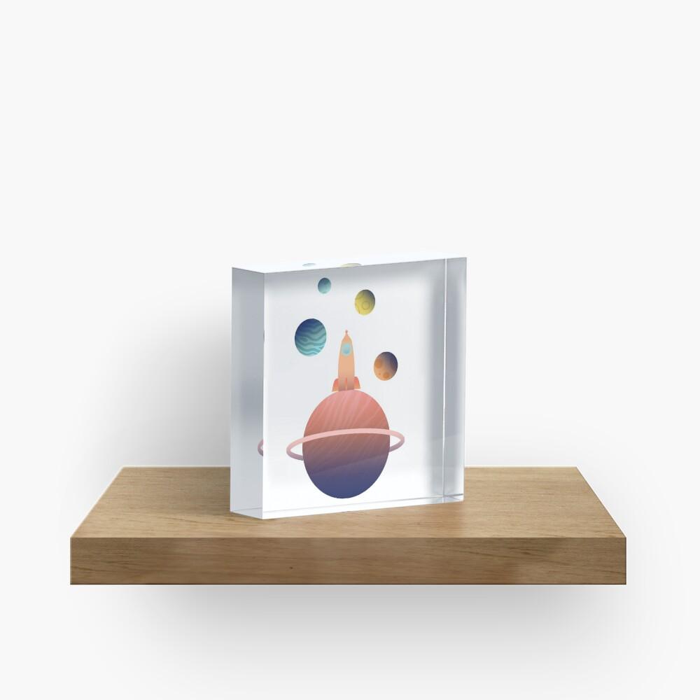 Into Space Acrylic Block