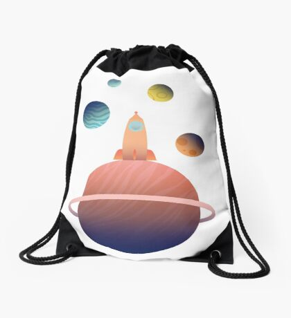 Into Space Drawstring Bag