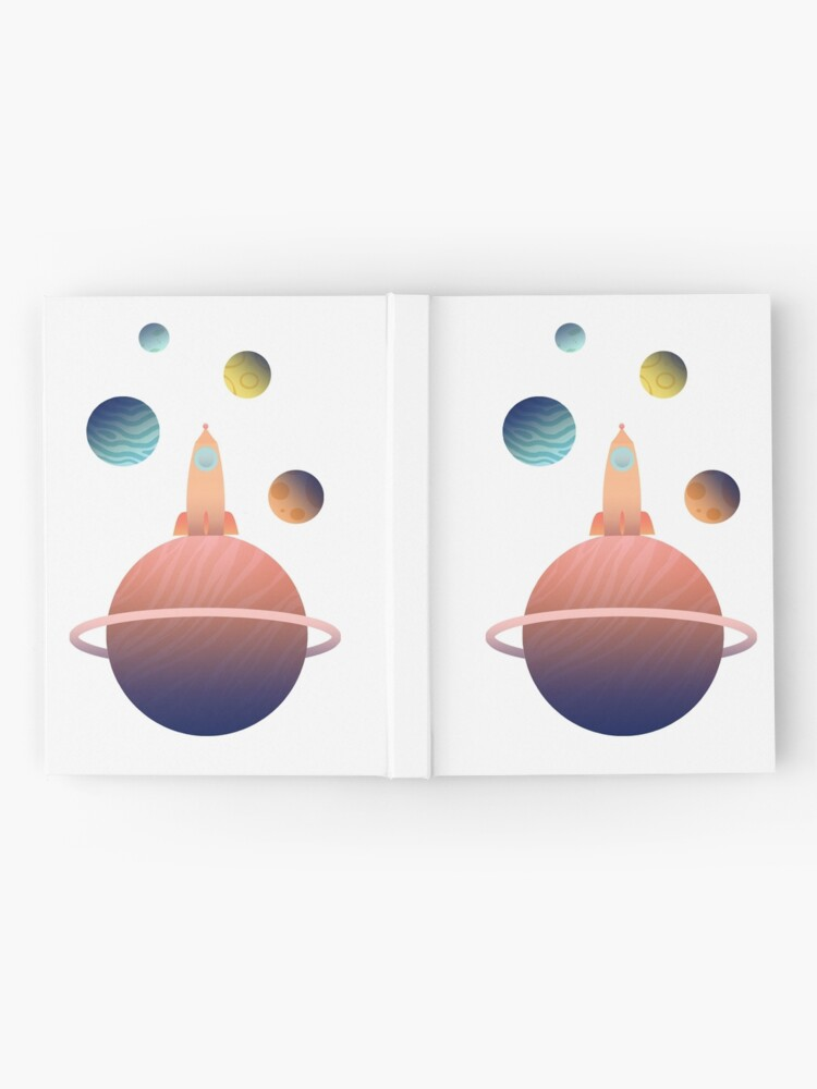 Alternate view of Into Space Hardcover Journal