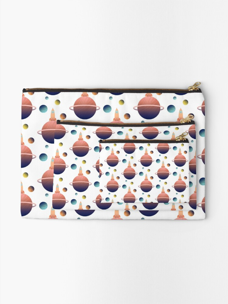 Alternate view of Into Space Zipper Pouch