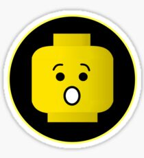 MINIFIG SHOCKED FACE Sticker