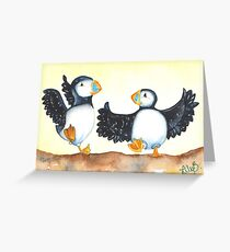 Puffin Can Can Greeting Card