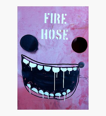 Borrowed art 1: Fire hose face Photographic Print