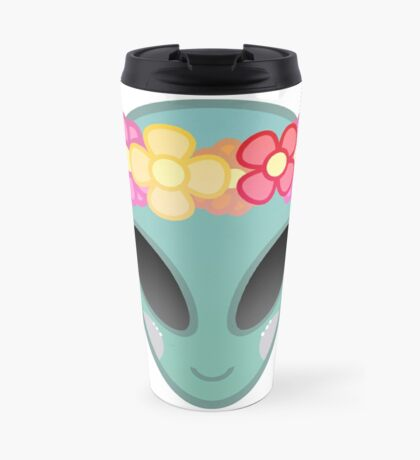 Flower Power Outer Space Travel Mug