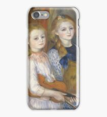 Auguste Renoir - The Daughters Of Catulle Mendes, Huguette, Claudine And Helyonne, 1888 iPhone Case/Skin