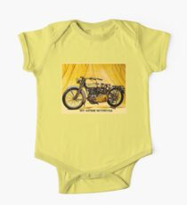 MOTORCYCLES: Vintage Antique Print One Piece - Short Sleeve