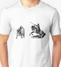 medieval knight in armor Unisex T-Shirt
