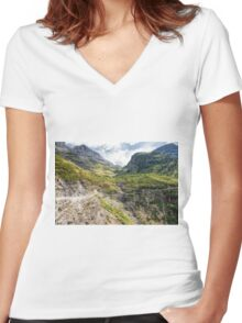 The Road To The Sun Women's Fitted V-Neck T-Shirt