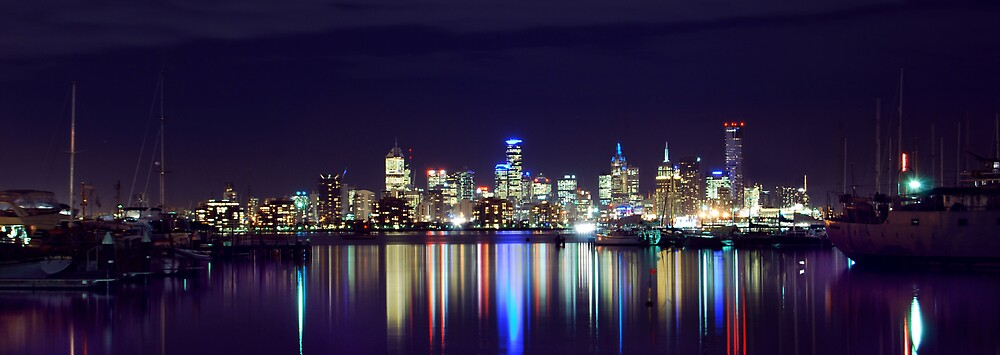 City of Melbourne from Williamstown, Victoria Australia by Grant McCall