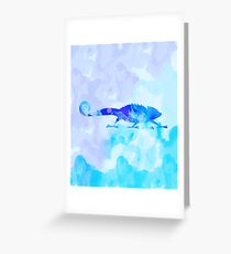 Abstract Chameleon Reptile Greeting Card
