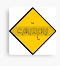 Chemistry Caution Signs Monosodium Glutemate Canvas Print